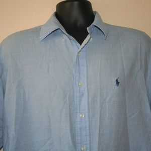 Ralph Lauren Shirts - Ralph Lauren Baby Blue Button Down Shirt Blake M/L